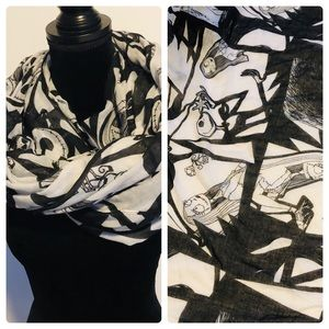 The nightmare before Christmas neck scarf